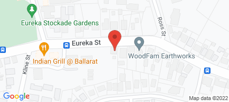 Location map for 618 Eureka Street Ballarat East