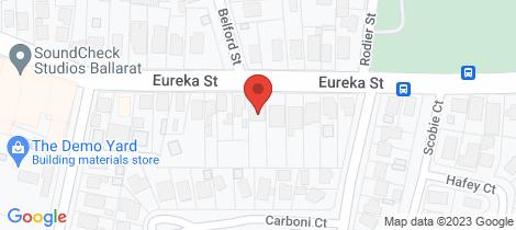 Location map for 420 Eureka Street Ballarat East