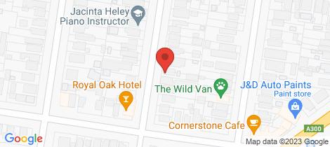 Location map for 321 Raglan Street South Ballarat Central