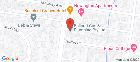 Location map for 405 Pleasant Street South Ballarat Central