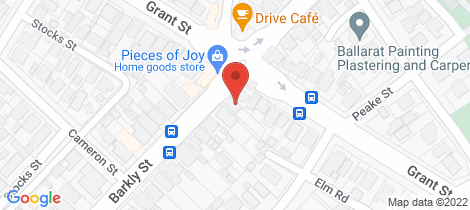 Location map for 505 Barkly Street Golden Point