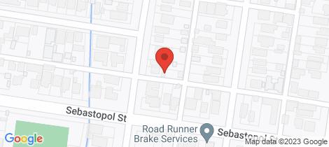 Location map for 419 Ripon Street Ballarat Central