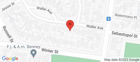 Location map for 9 Waller Avenue Newington