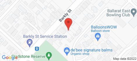 Location map for 625 Barkly Street Golden Point