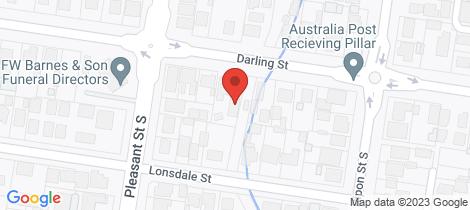 Location map for 2/609 Darling Street Redan