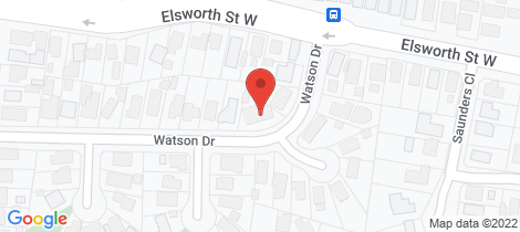 Location map for 8 Watson Drive Mount Pleasant