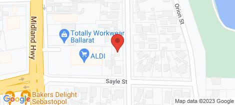 Location map for 20 Yarrowee Street Sebastopol