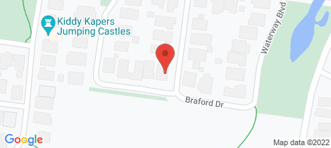 Location map for 21 Braford Drive Doreen