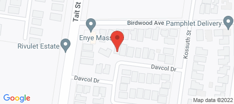 Location map for 16 Davcol Drive Sebastopol