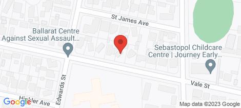 Location map for 24 Vale Street Sebastopol