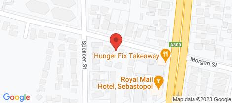 Location map for 114 Morgan Street Sebastopol
