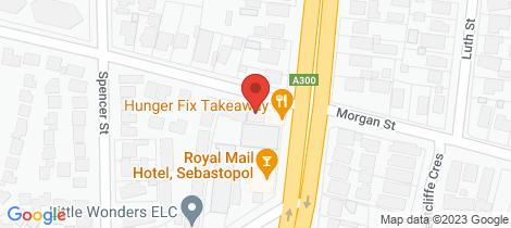 Location map for 286a Albert Street Sebastopol