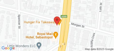 Location map for 286 Albert Street Sebastopol