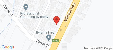 Location map for 338 Albert Street Sebastopol