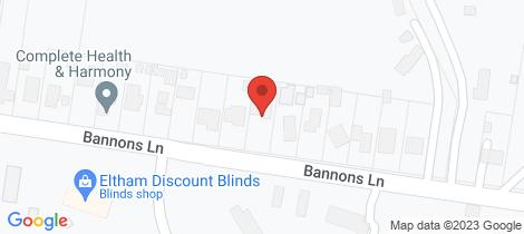 Location map for 21 Bannons Lane Yarrambat