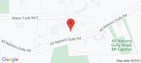 Location map for 35 All Nations Gully Road Mount Egerton