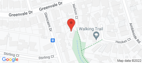 Location map for 6 Nelson Close Greenvale