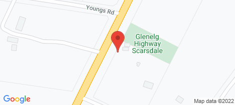 Location map for 1979 Glenelg Highway Scarsdale