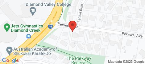 Location map for 8 Perversi Avenue Diamond Creek