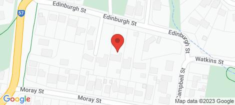 Location map for 23a Edinburgh Street Diamond Creek