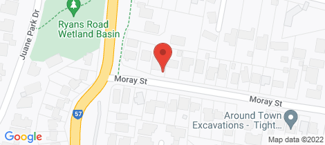 Location map for 28 Moray Street Diamond Creek