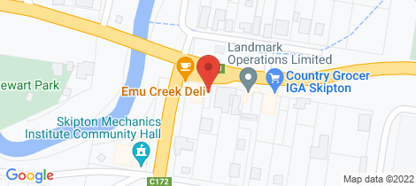 Location map for 25 Montgomery Street Skipton