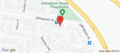 Location map for 31 Gillingham Street Watsonia North