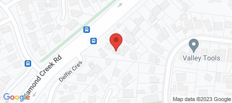 Location map for 2/46 Diamond Creek Road Greensborough