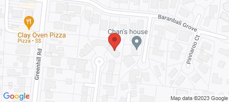 Location map for 20 Ellen Court Greensborough