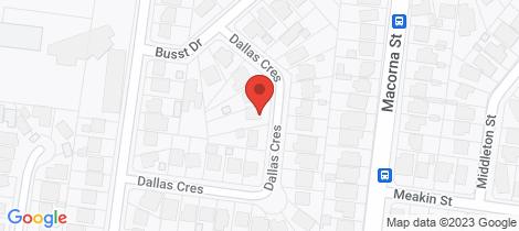Location map for 17 Dallas Crescent Watsonia North
