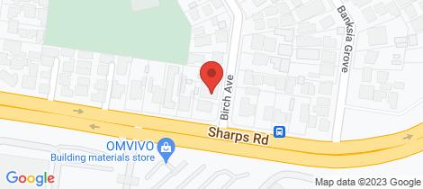 Location map for 1/3 Birch Avenue Tullamarine