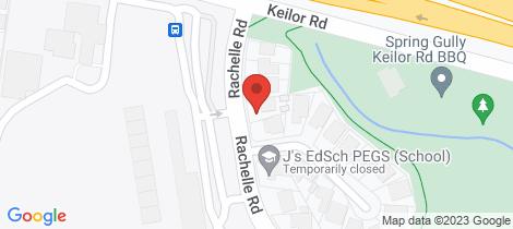 Location map for 200 Rachelle Road Keilor East