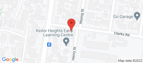 Location map for 47 Clarks Road Keilor East