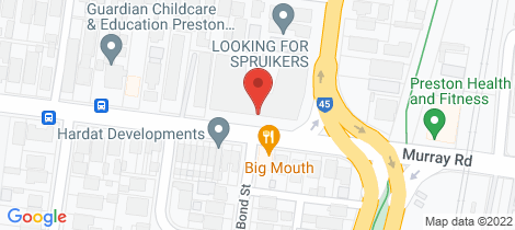 Location map for 4/388 Murray Road Preston