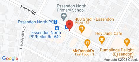 Location map for 64/100 Keilor Road Essendon North