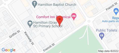 Location map for 69 French Street Hamilton