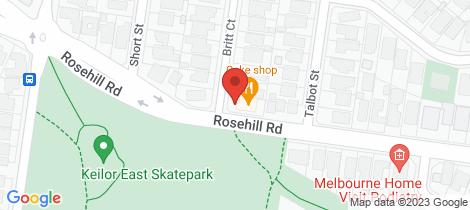 Location map for 2 Britt Court Keilor East