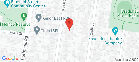 Location map for 12 Deakin Street Essendon