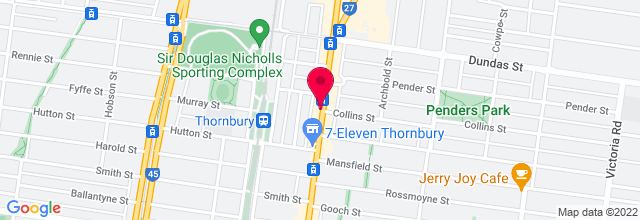 Map for Thornbury Theatre - Velvet Room