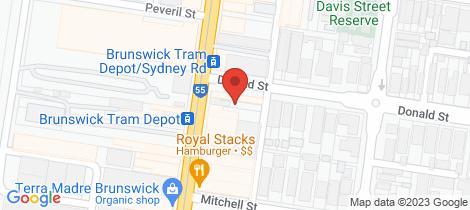 Location map for 820 Sydney Road Brunswick
