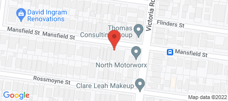 Location map for 164 Mansfield Street Thornbury
