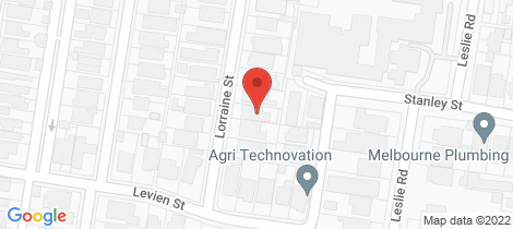 Location map for 14 Lorraine Street Essendon