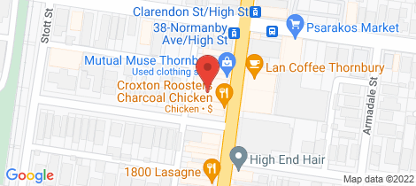 Location map for 104/679-685 High Street Thornbury