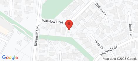 Location map for 41 Winslow Crescent Deer Park