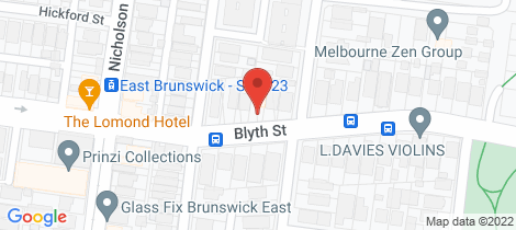 Location map for 1/229 Blyth Street Brunswick East