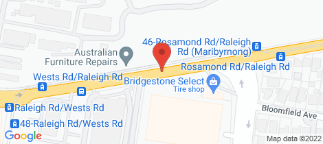 Location map for 102/55 Cumberland Drive Maribyrnong