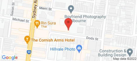 Location map for 216/1-3 Dods Street Brunswick