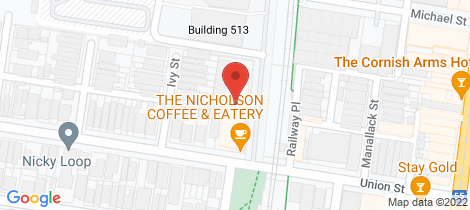 Location map for 212/34 Union Street Brunswick