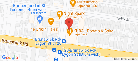 Location map for 104/32 Lygon Street Brunswick East