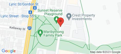 Location map for 503/86 La Scala Avenue Maribyrnong